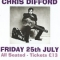 Chris Difford – 25 July 2014 – live at Hullbridge Sports Club