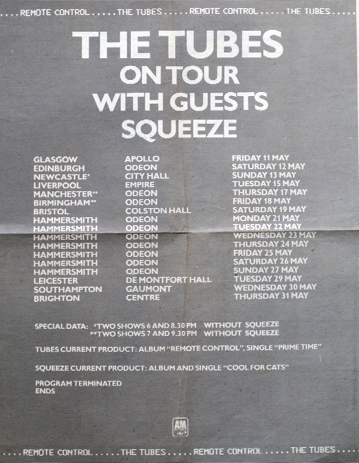 1978 Tour with The Tubes