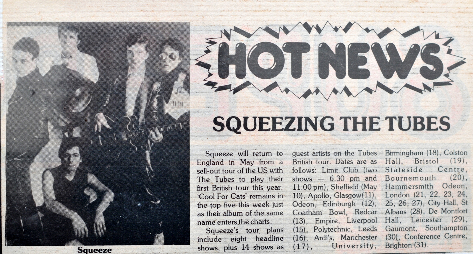 1979 tour with The Tubes