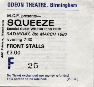 Squeeze - 8 March 1980