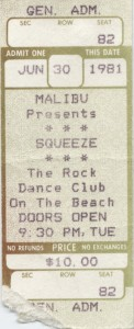 Squeeze - 30 June 1981 - live at  Malibu Long Island