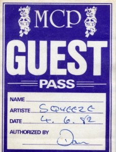 Squeeze - 4 June 1982 - live at  Top Rank Brighton