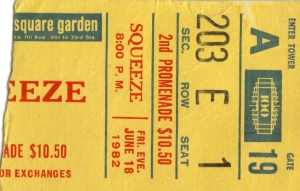Squeeze - 18 June 1982 - live at  Madison Square Garden New York