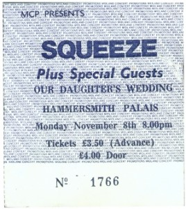 Squeeze - 8 November 1982 - live at  Hammersmith Palace London