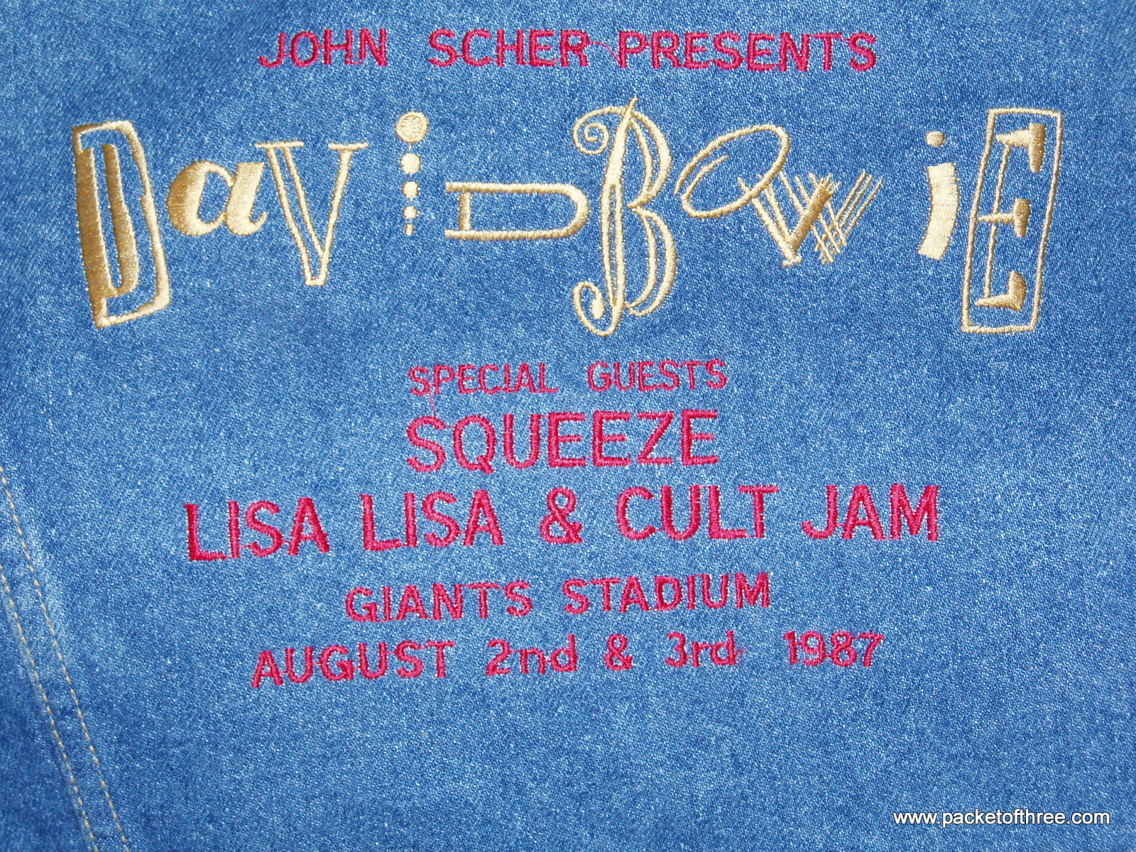 Glenn's Tour Jacket - August 1987