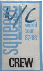 Squeeze - 18 October 1987 - live at  Woolwich Coronet