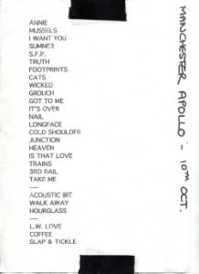 1995-10-10 setlist