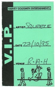 1995-10-27 backstage pass