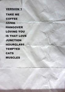 2010-10-20 Setlist