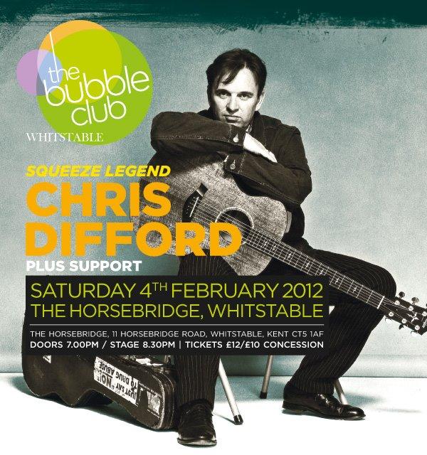 2012-02-04 Chris Difford - The Bubble Club