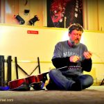 Glenn Tilbrook – restringing the guitar before the soundcheck – Bristol – 11 November 2011