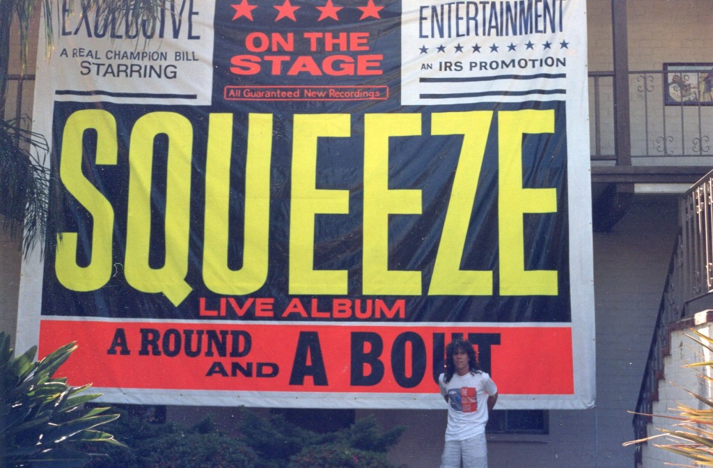 A Round and A Bout - Squeeze Banner 1990