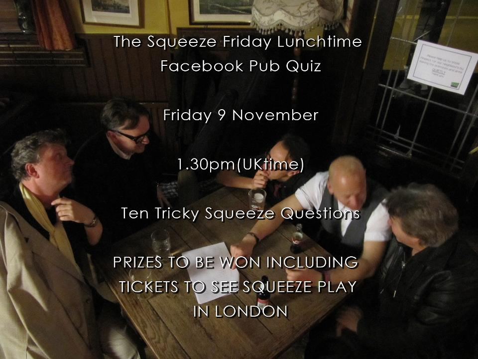 The Squeeze Friday Lunchtime Facebook Pub Quiz - November 2012