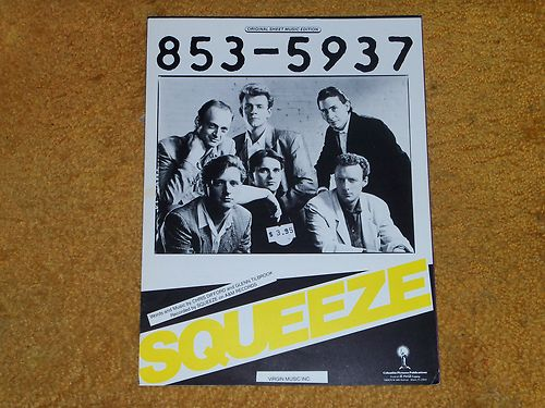 Squeeze - 853-5937 - sheet music