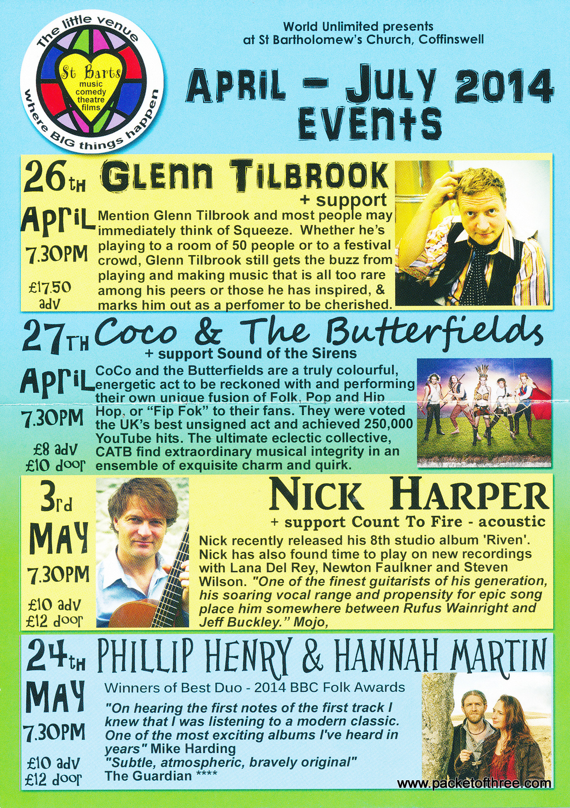 Glenn Tilbrook - 26 April 2014 - live at St Bartholomew's Church, Coffinswell, Devon