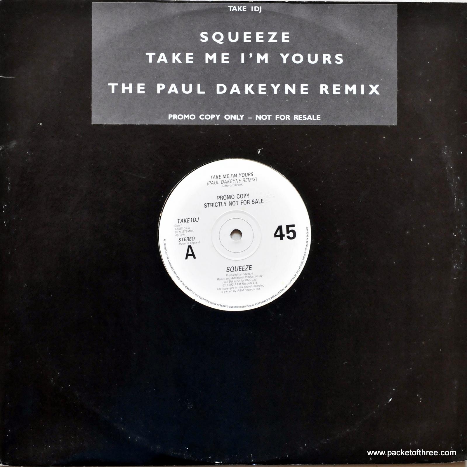 """Take Me I'm Yours - UK - 12"""" Dakeyne Promo Remix"""