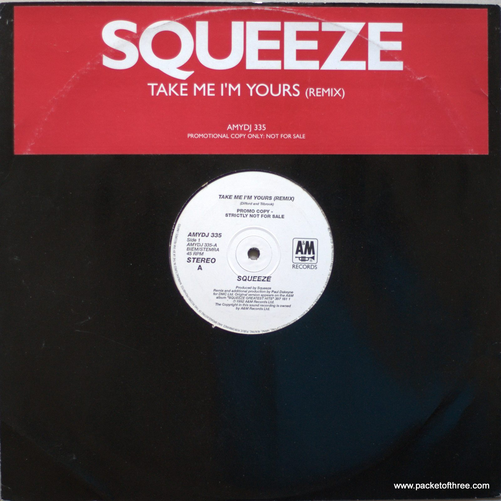 "Take Me I'm Yours - UK - 12"" Promo Remix"