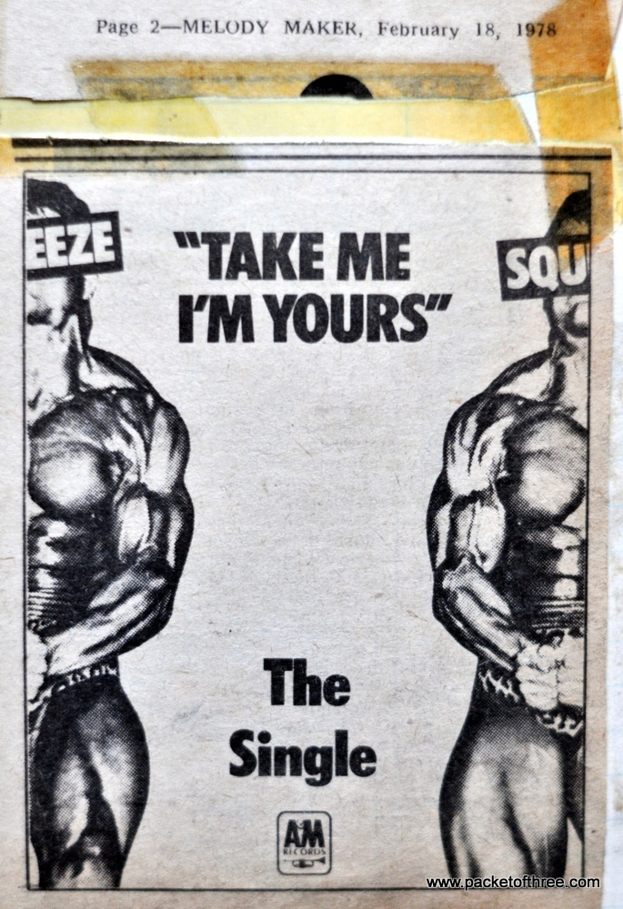 Take Me I'm Yours - advert