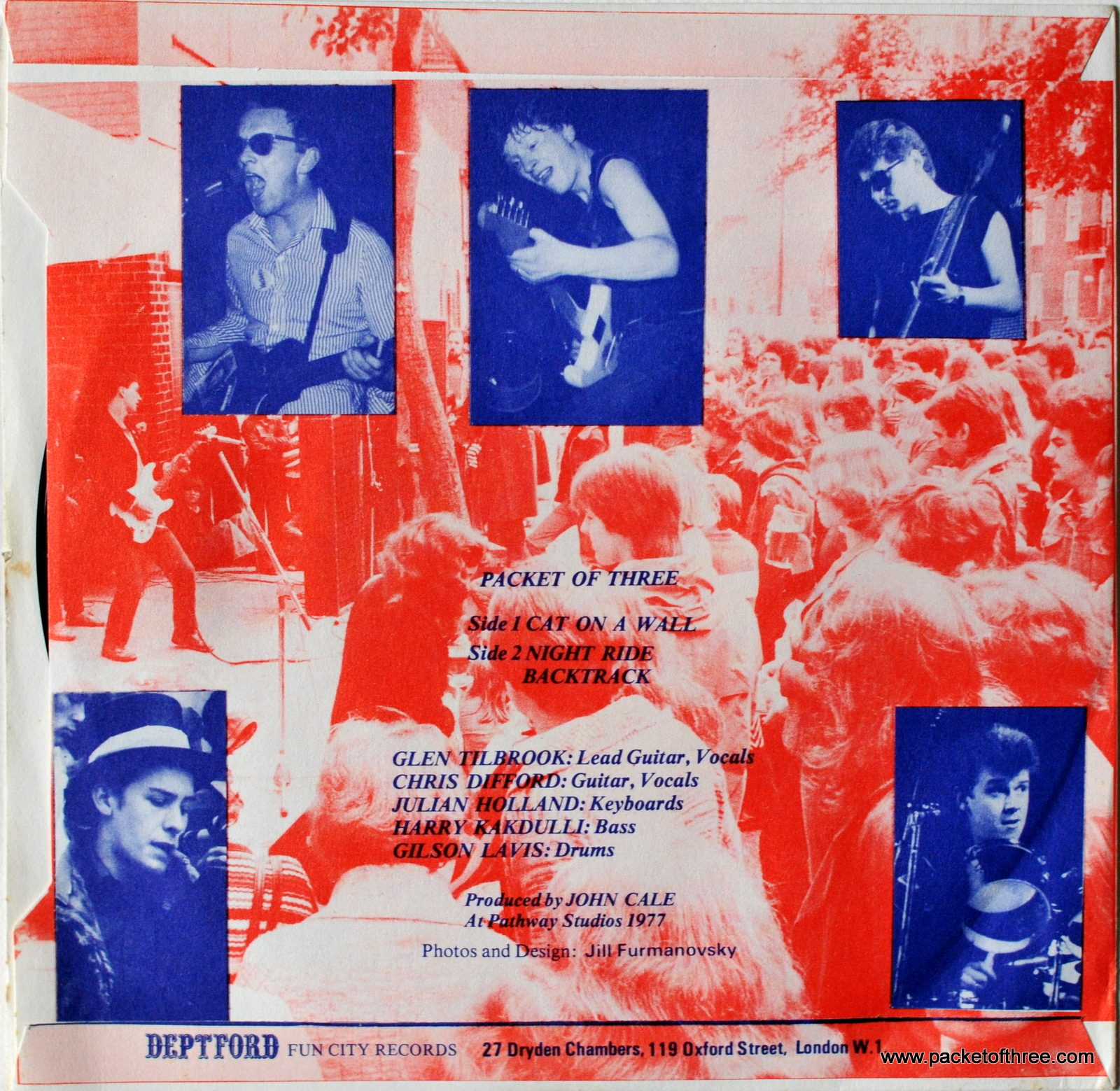 """DFC 001 Packet of Three - UK - 7"""" picture sleeve"""