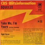 Take Me I'm Yours – Germany – 7″ – picture sleeve - promotional copy