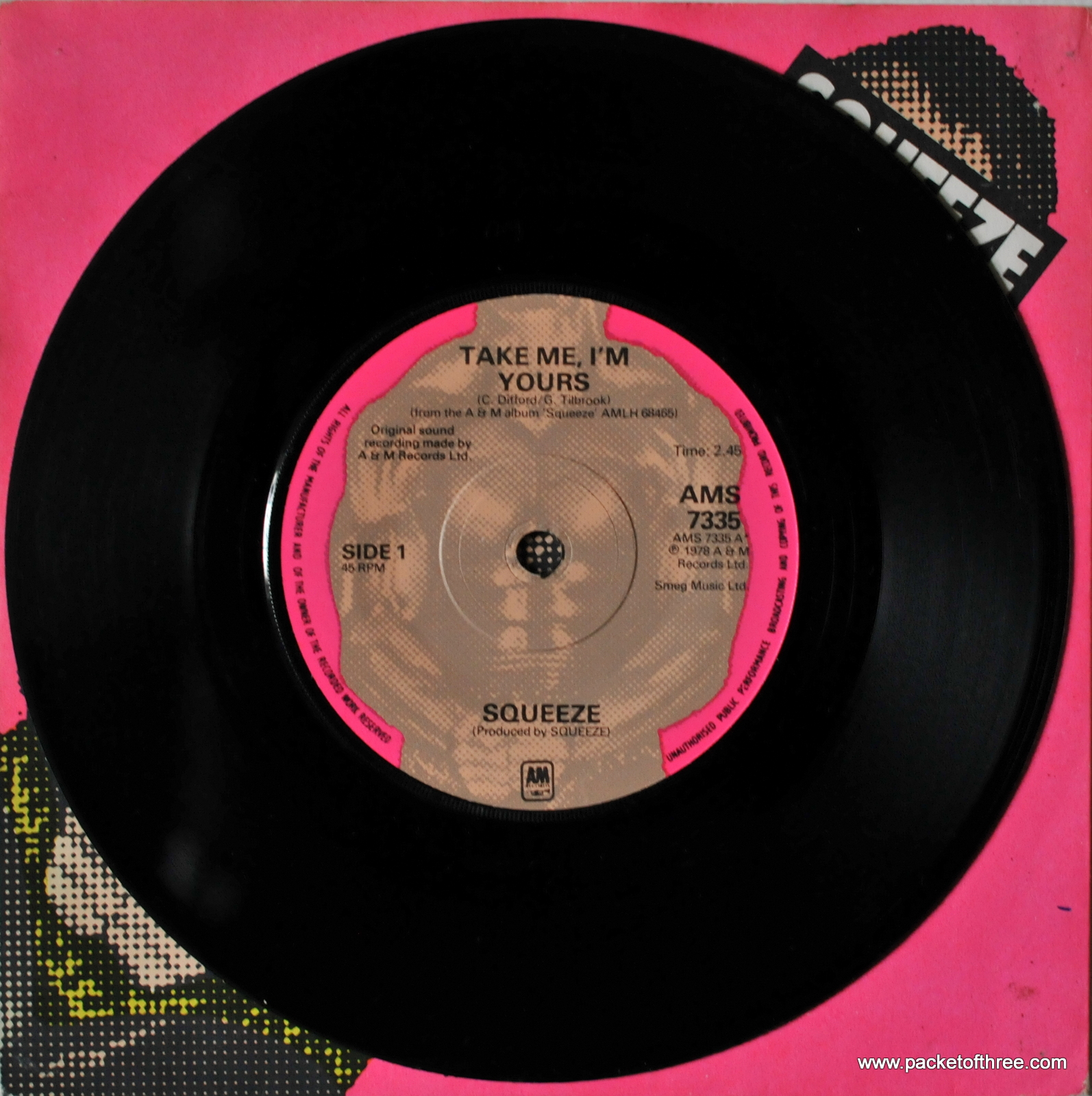 Take Me I'm Yours – UK – 7″ – picture sleeve