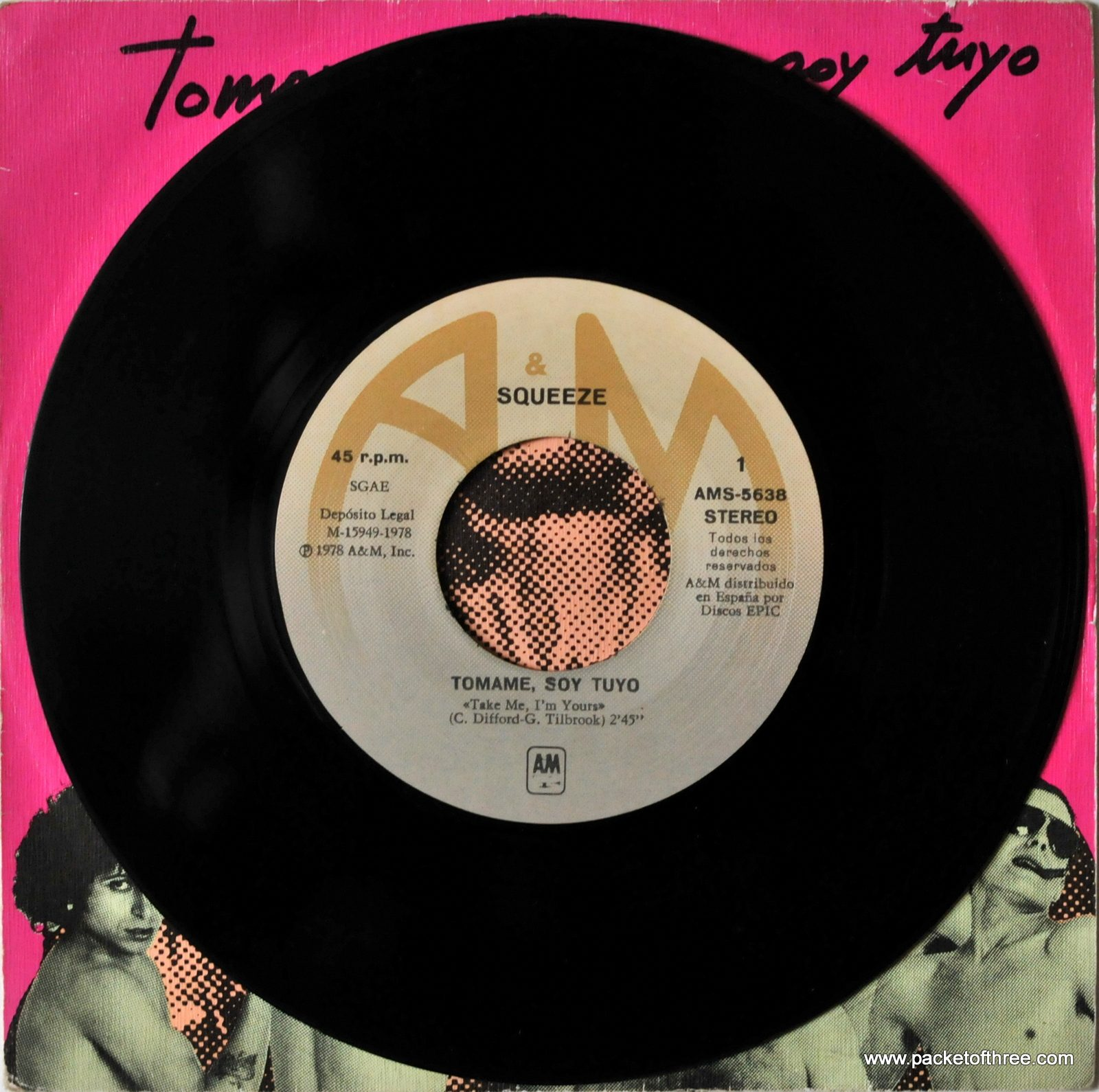 Take Me I'm Yours – Spain – 7″ – picture sleeve
