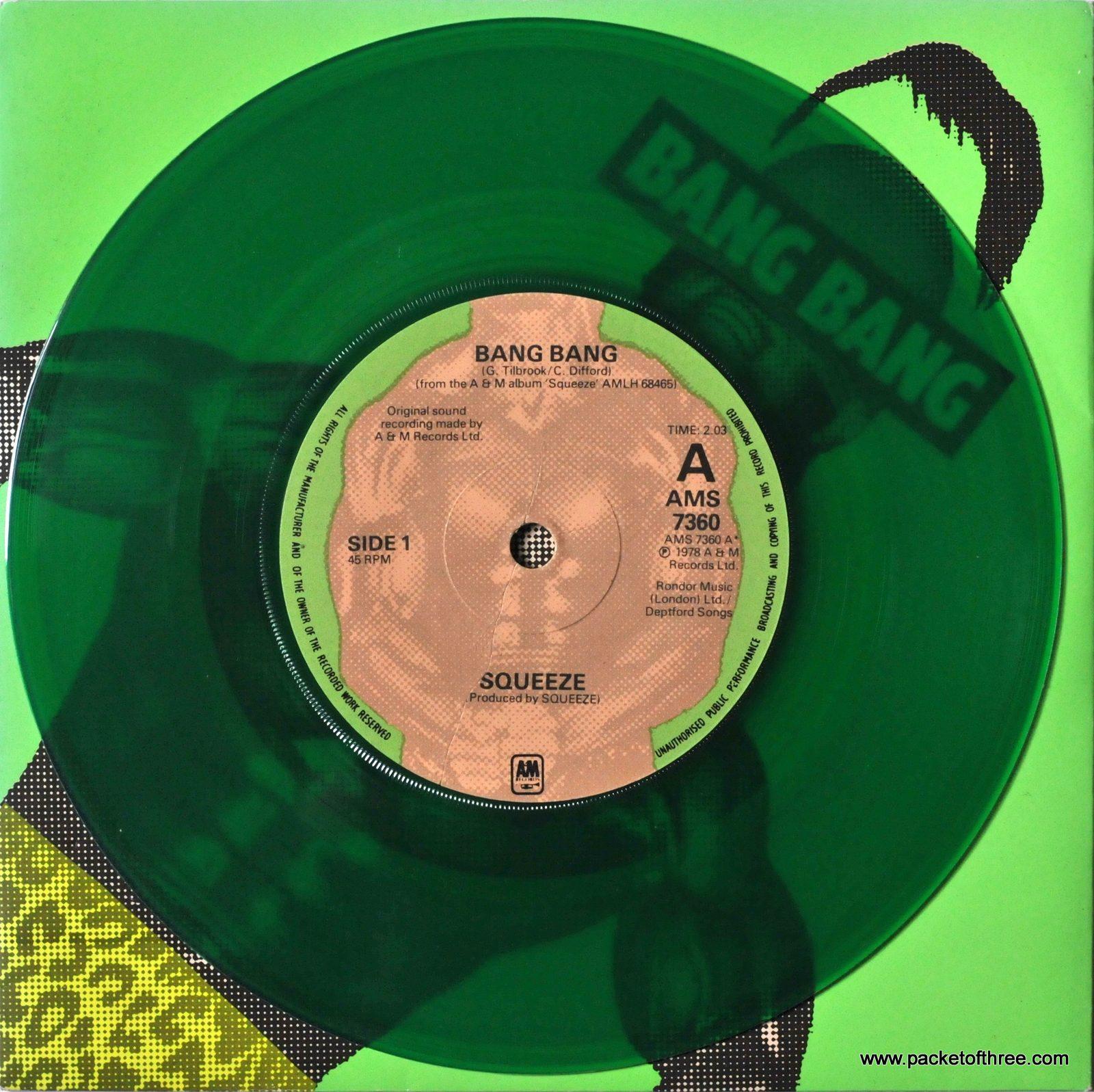 Bang Bang – UK – 7″ – picture sleeve - green vinyl