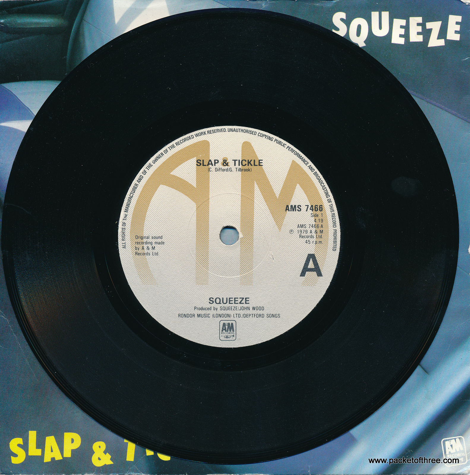 """Slap and Tickle - UK - 7"""" - picture sleeve"""