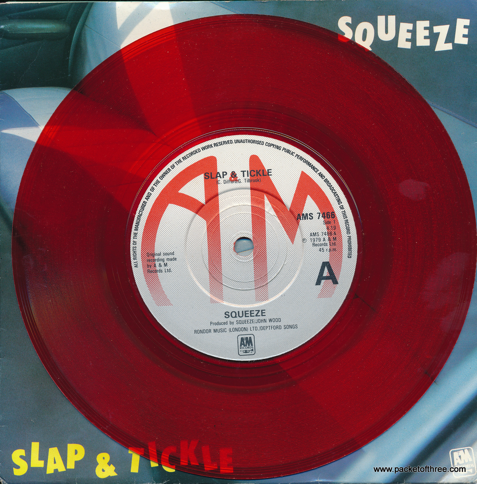 "Slap and Tickle - UK - 7"" - red vinyl - picture sleeve"