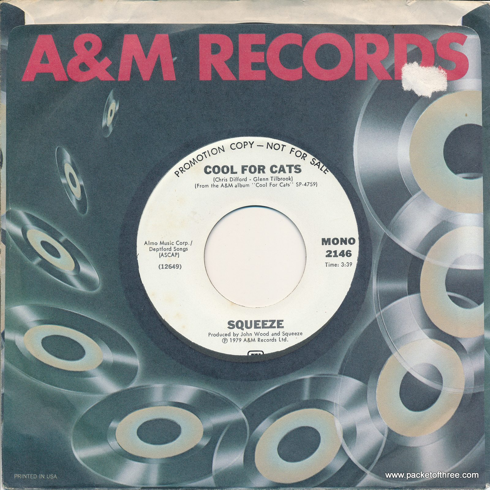 "Cool For Cats - USA - 7"" - mono/stereo promo"