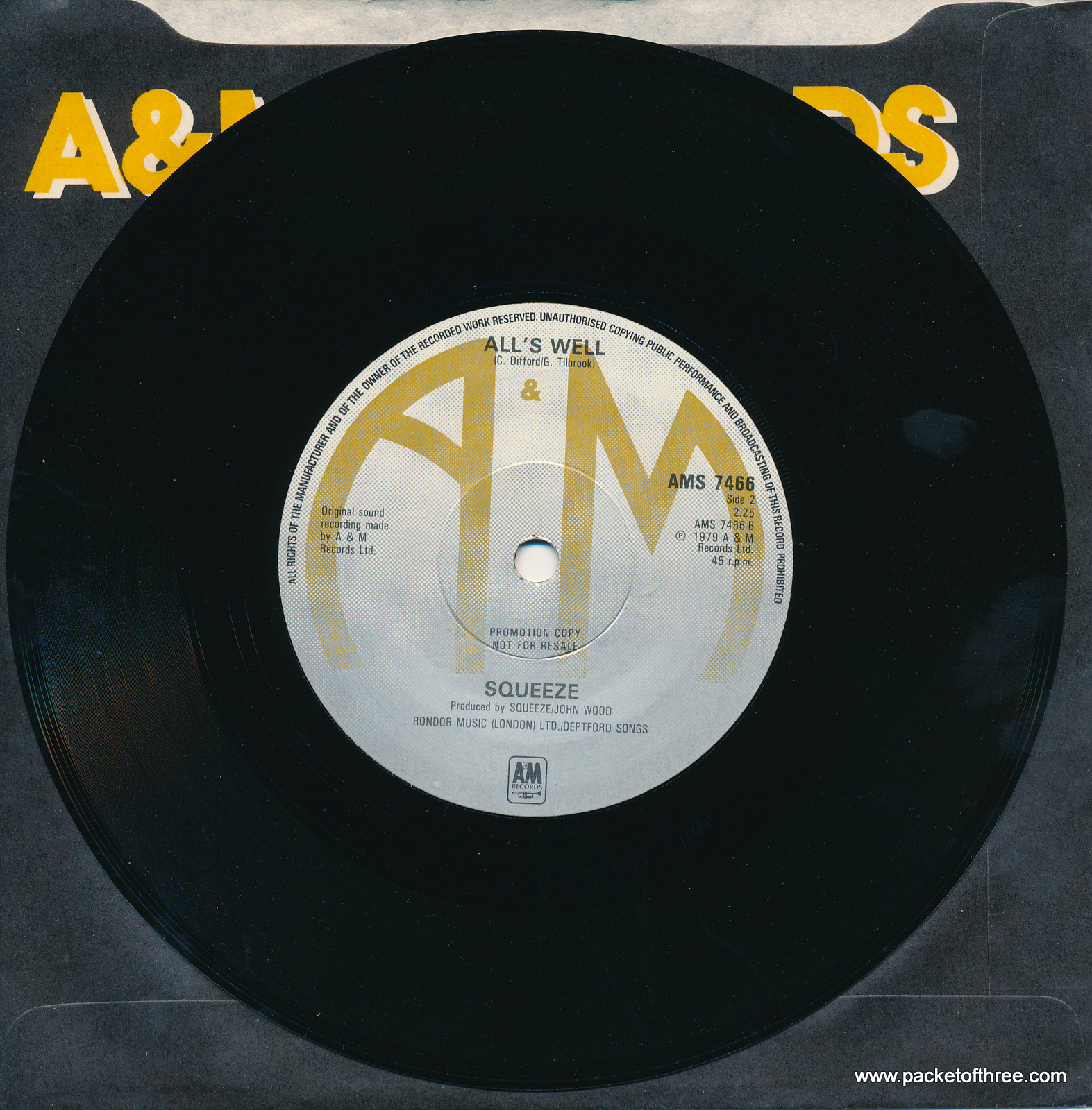 """Slap and Tickle - UK - 7"""" - promotional copy"""