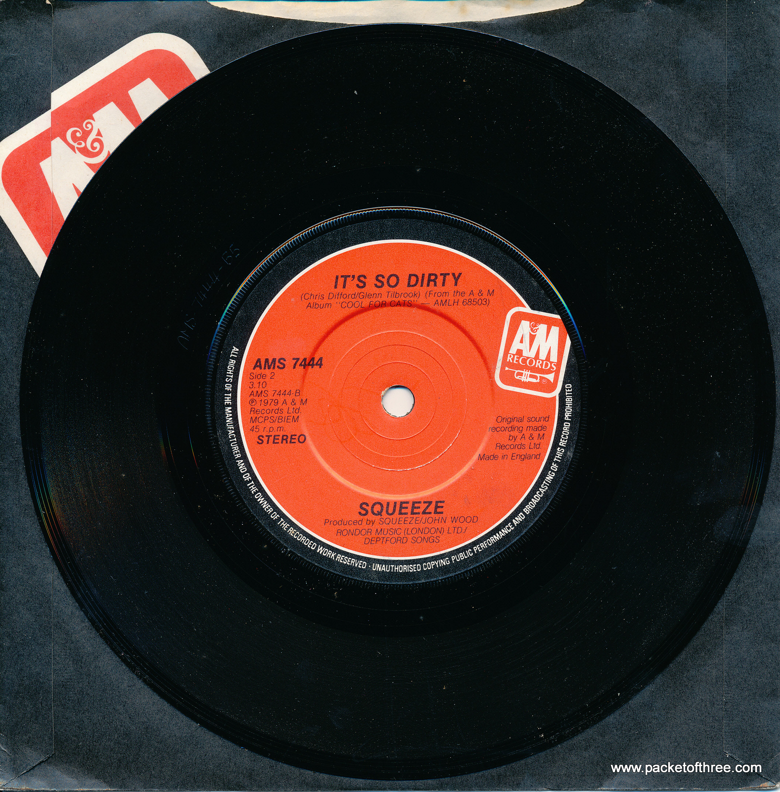 """Up the Junction - UK - 7"""" - red label"""
