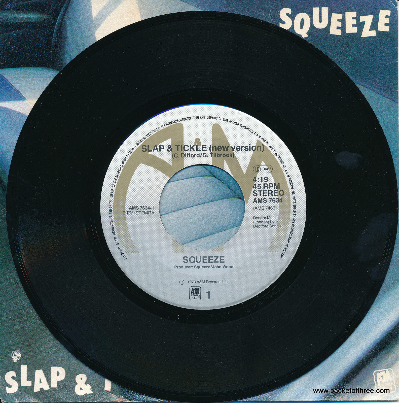 """Slap and Tickle - Netherlands - 7"""" - picture sleeve"""