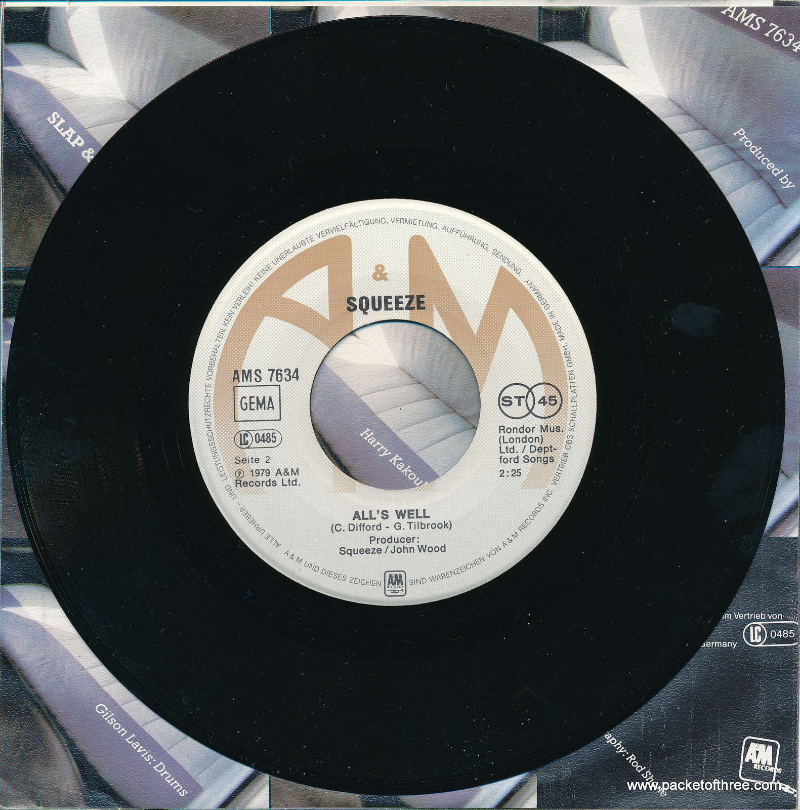 """Slap and Tickle - Germany - 7"""" - picture sleeve"""