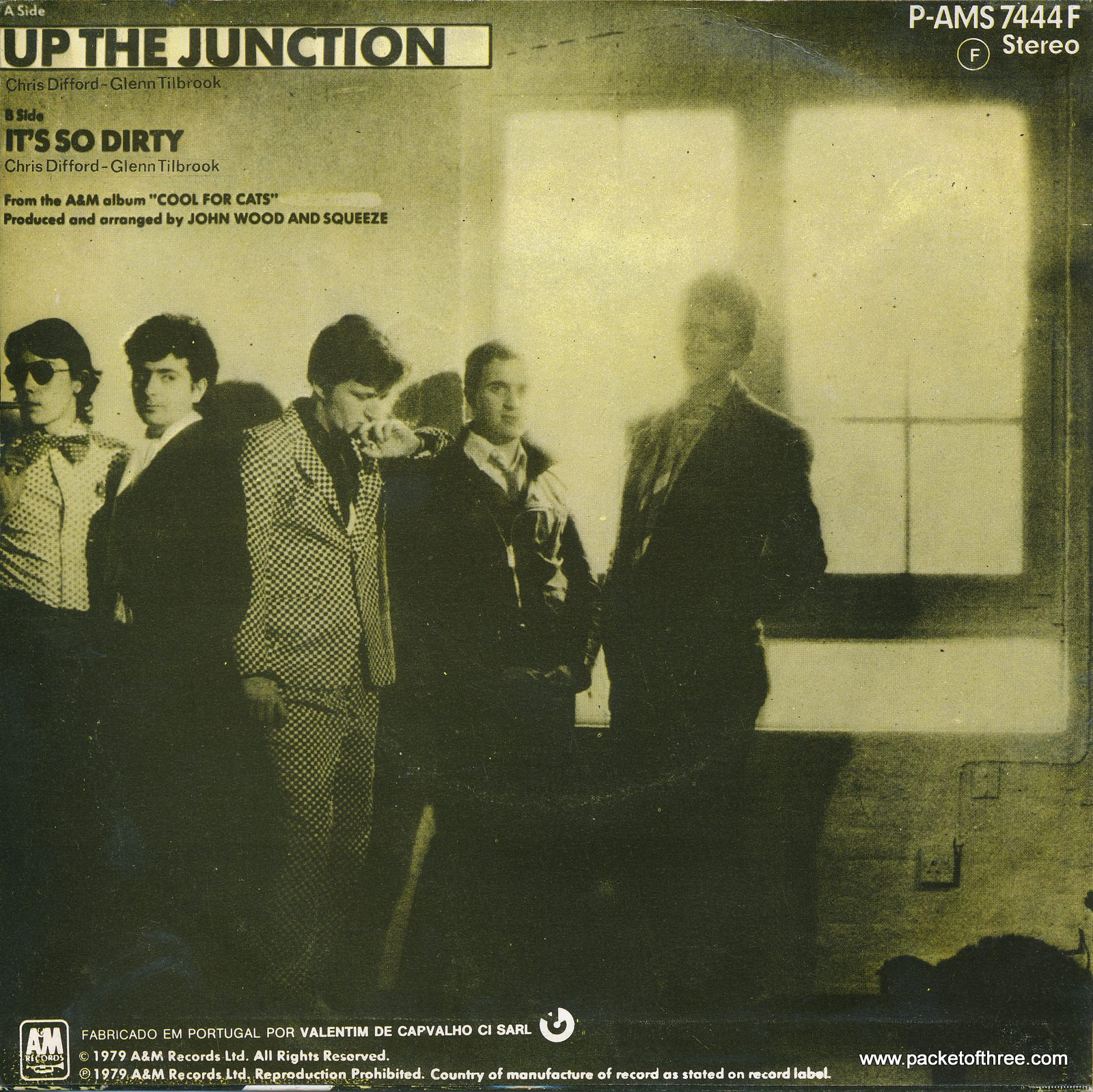 """Up the Junction - Portugal - 7"""" - picture sleeve"""