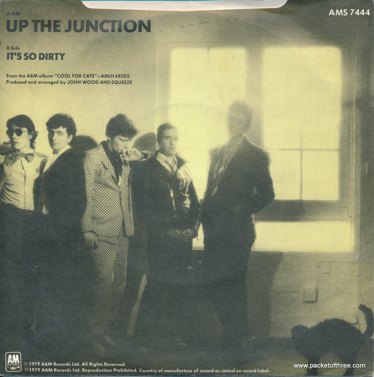 """Up the Junction - UK - 7"""" - picture sleeve - lilac vinyl"""