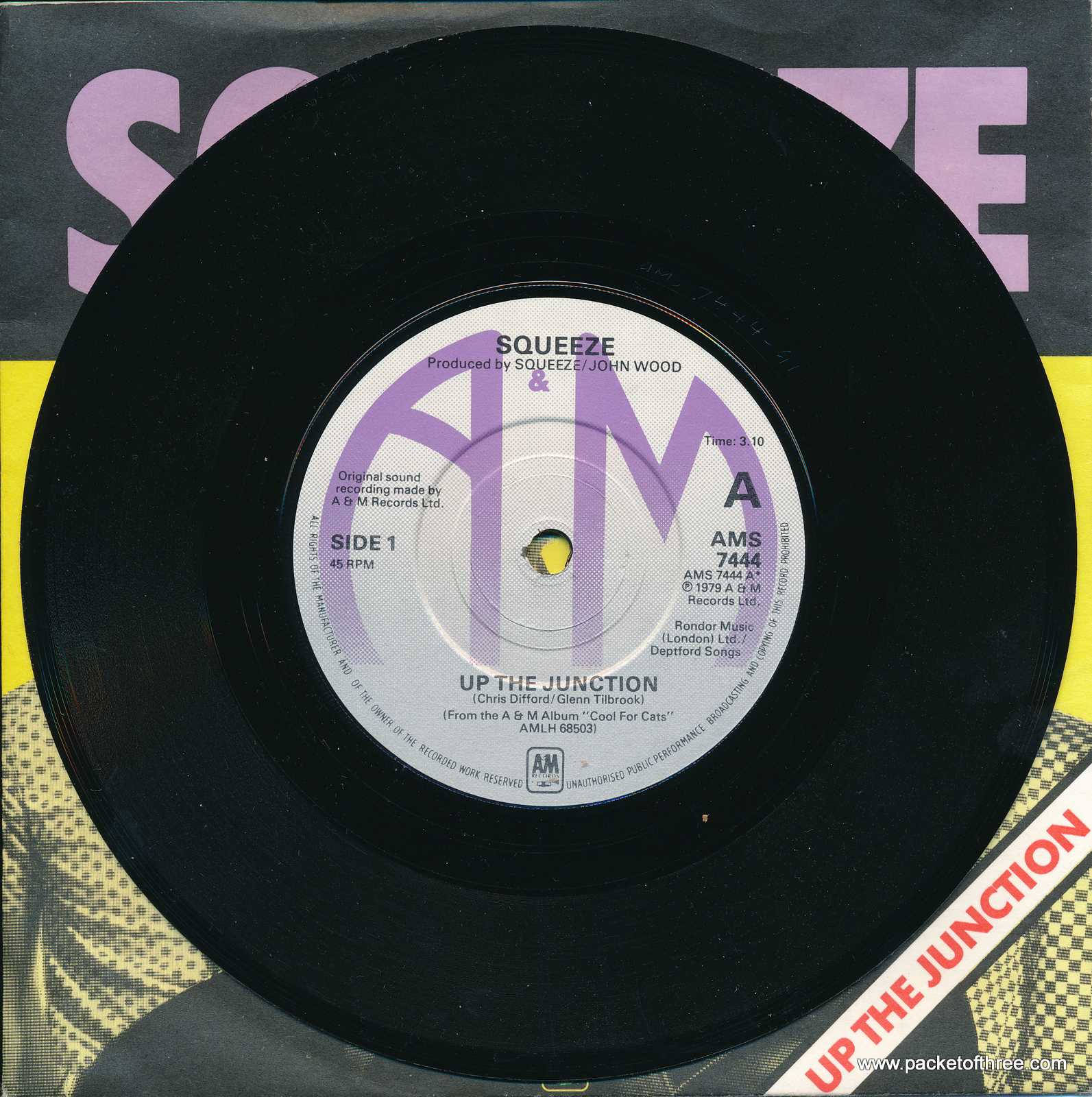 """Up the Junction - UK - 7"""" - picture sleeve"""