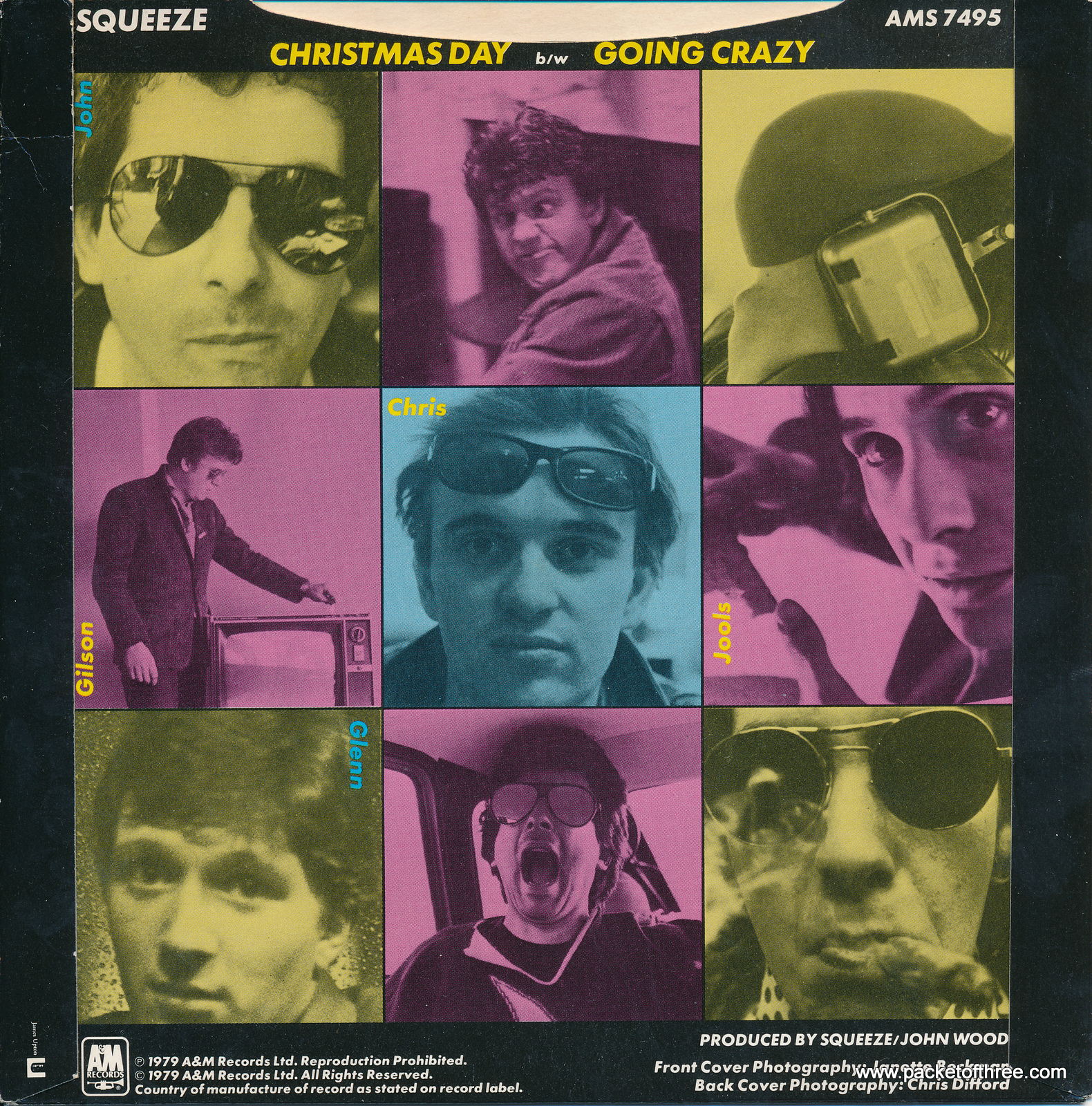"""Christmas Day - UK - 7"""" - picture sleeve"""