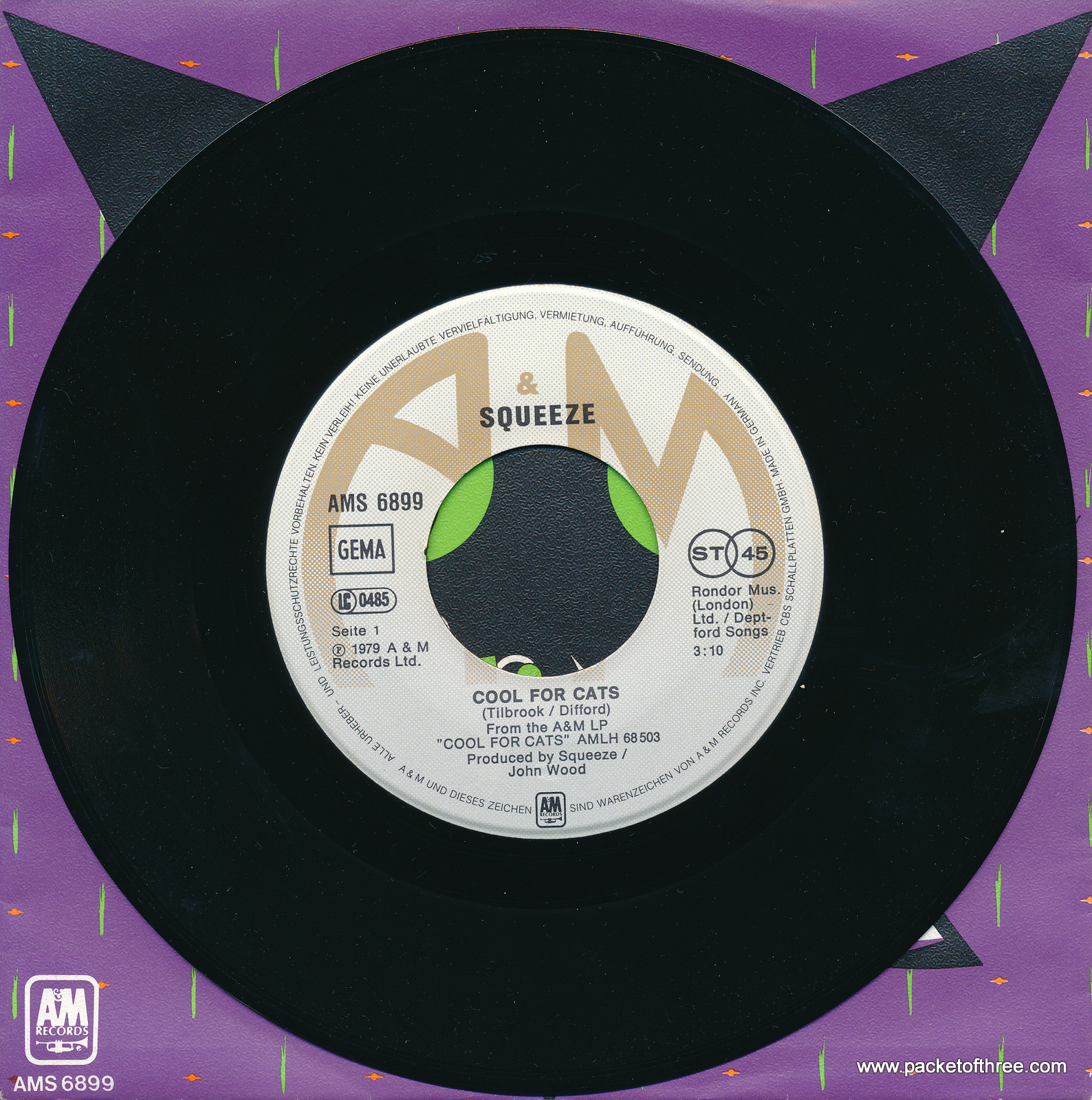 """Cool For Cats - Germany - 7"""" - picture sleeve"""