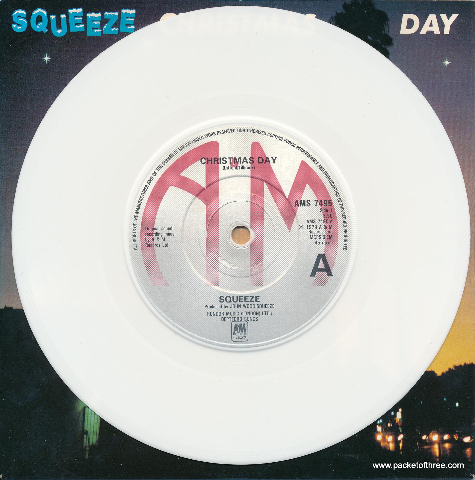 "Christmas Day - UK - 7"" - white vinyl - picture sleeve"