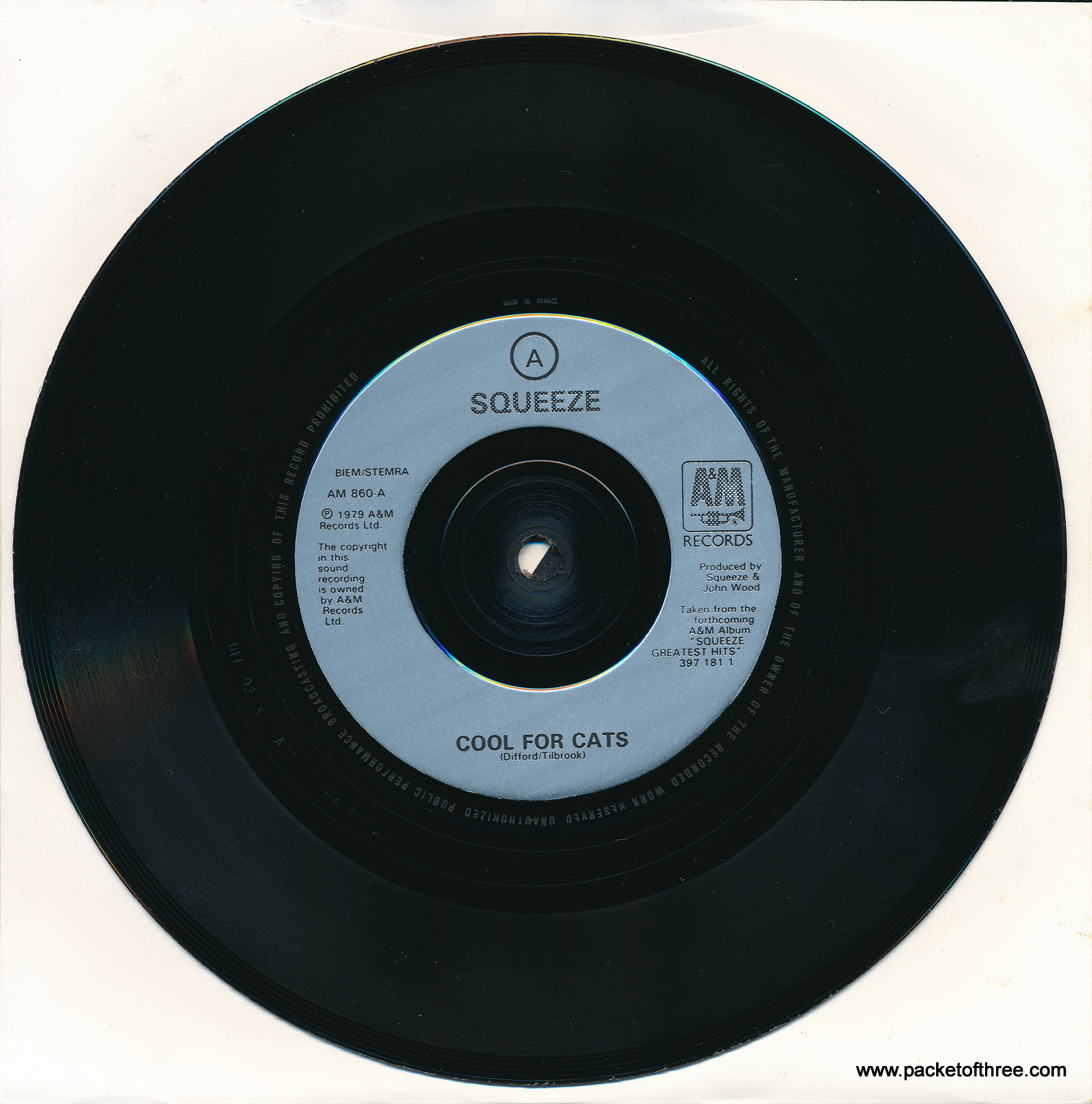 "Cool For Cats - UK - 7"" - picture sleeve reissue"
