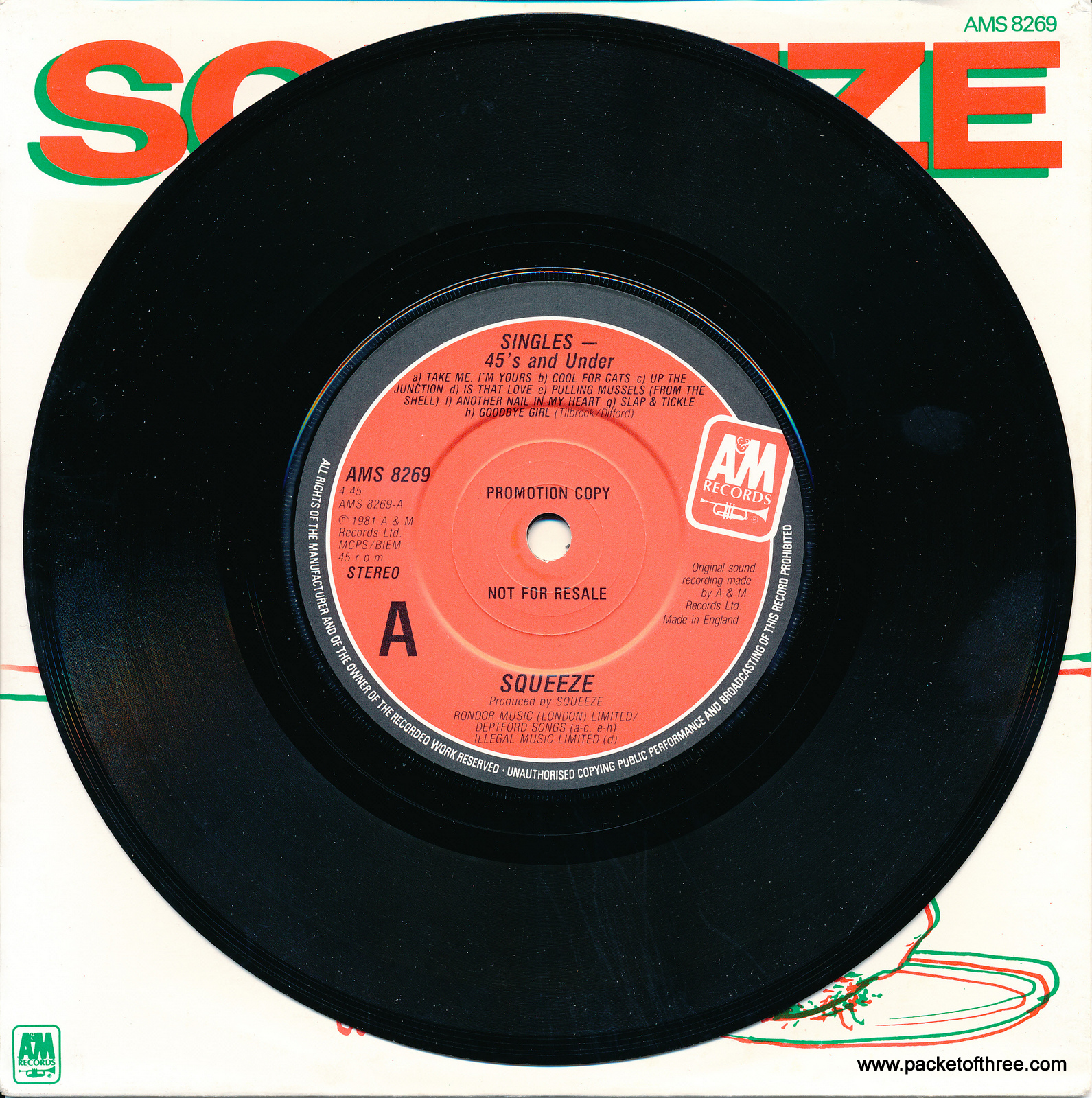 "45's and Under - UK - 7"" - Christmas picture sleeve"