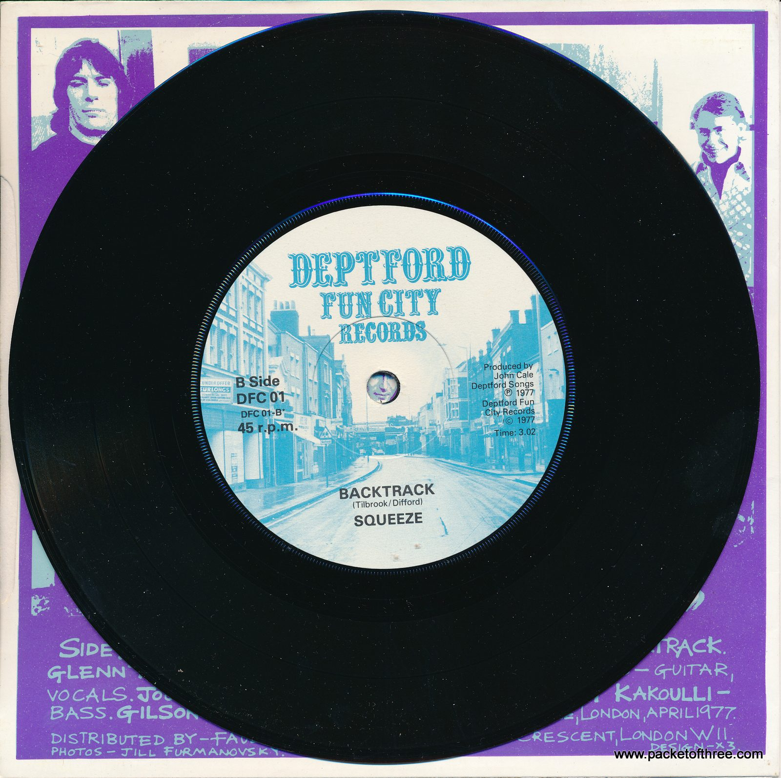 Packet of Three – UK – 7″ – picture sleeve – reissue
