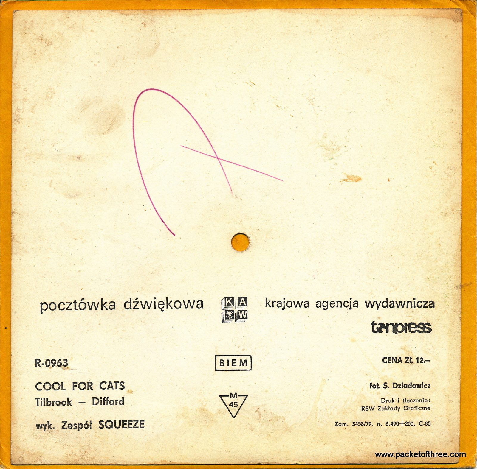 Cool For Cats – Poland – 7″ – postcard picture disc