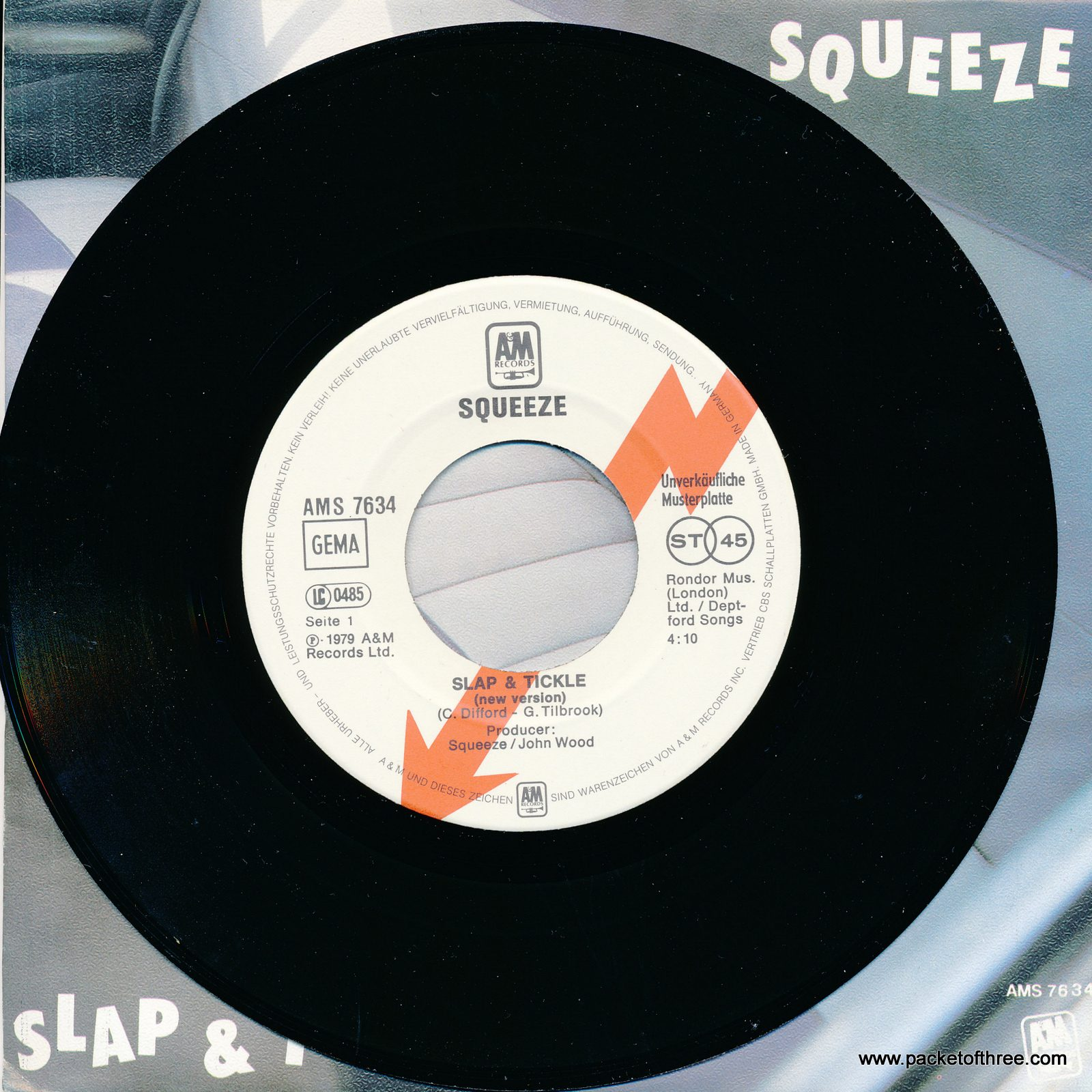 """AMS 7634 Germany 7"""" picture sleeve promo"""