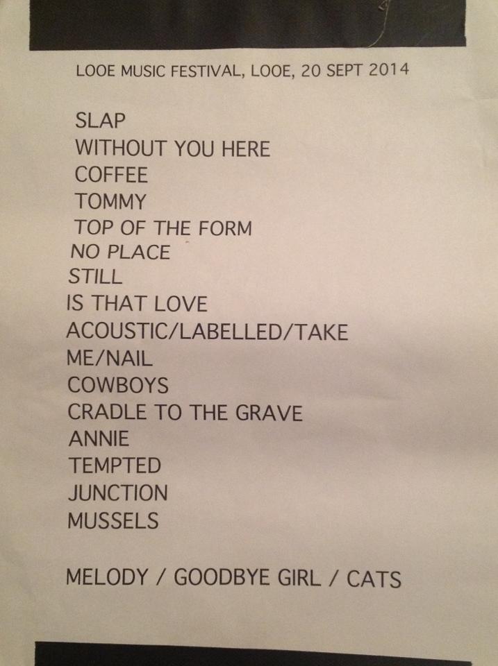 2014-09-20 setlist