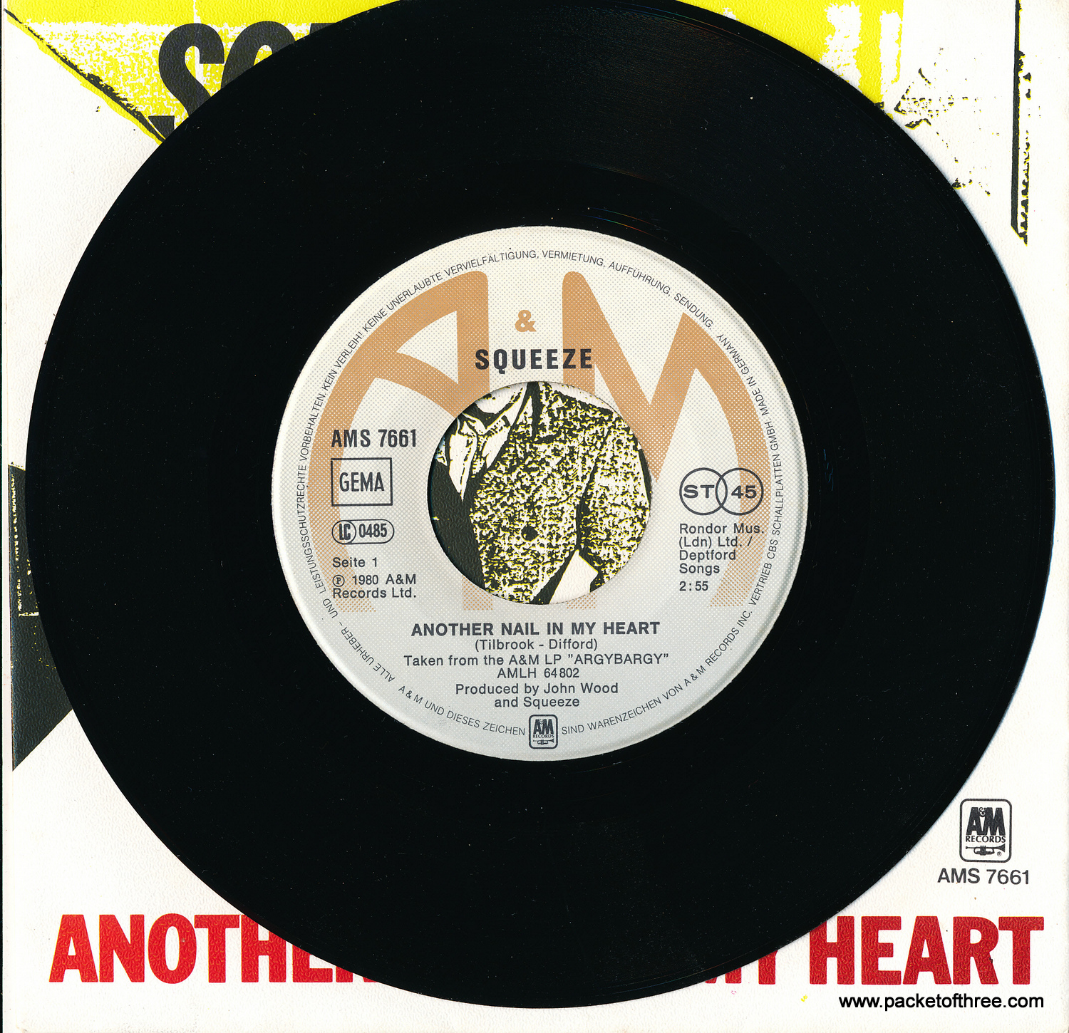 "Another Nail In My Heart - Germany - 7"" - Picture Sleeve"