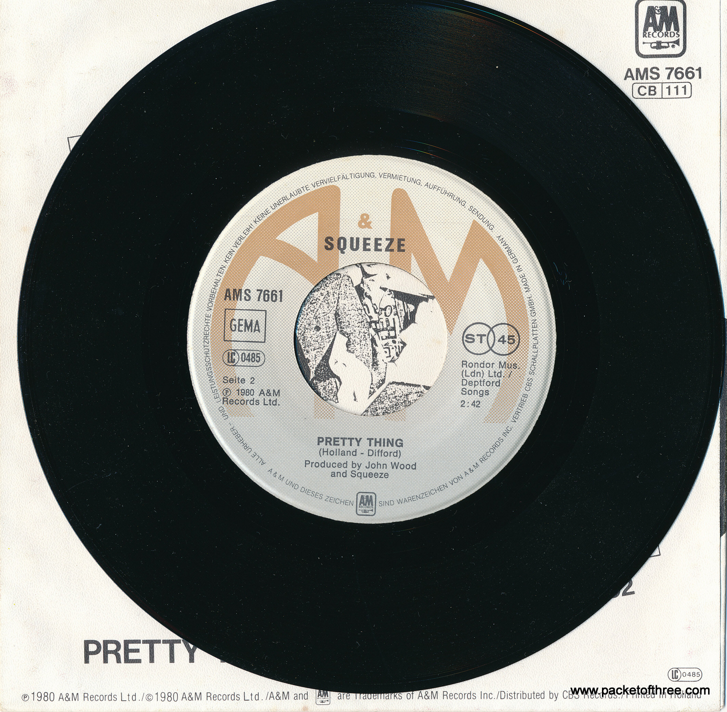 """Another Nail In My Heart - Germany - 7"""" - Picture Sleeve"""