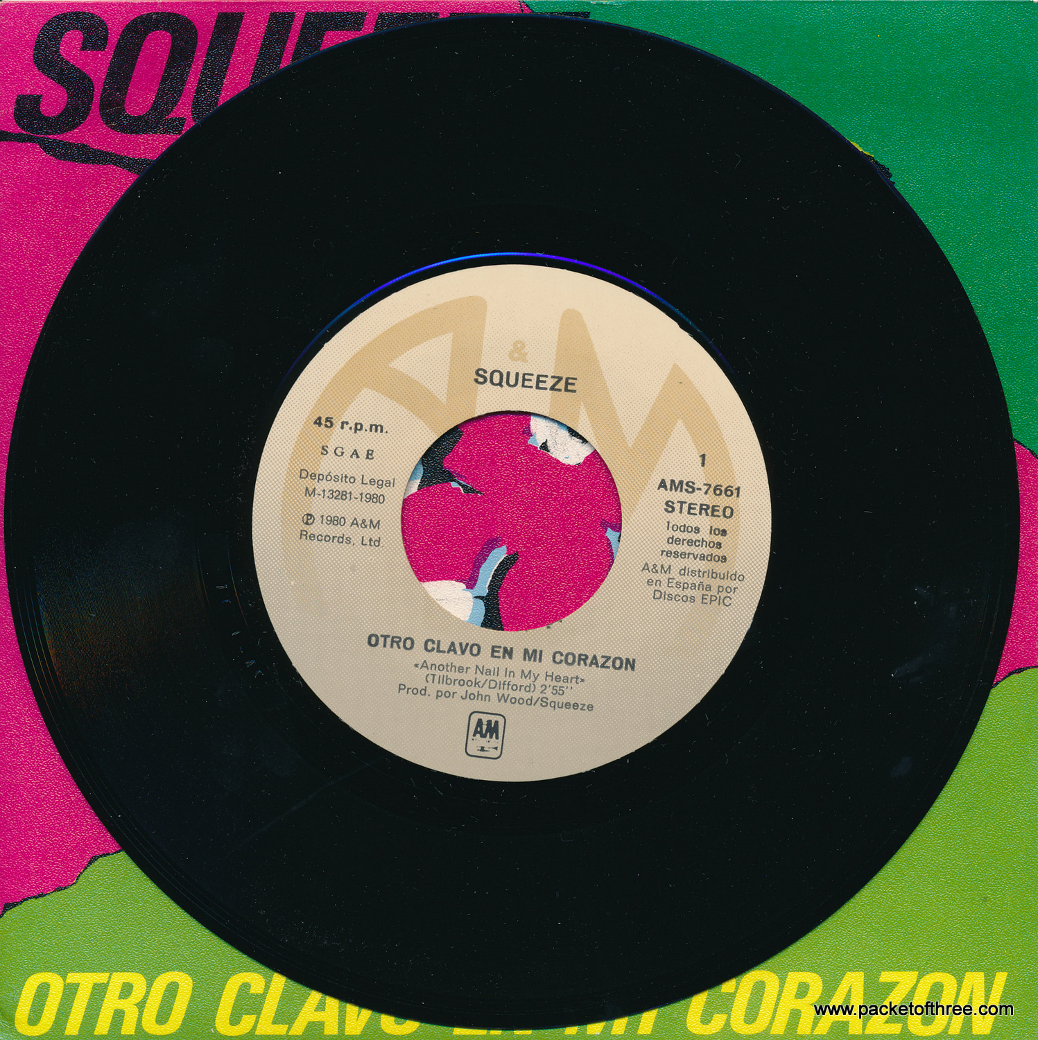 "Another Nail In My Heart - Spain - 7"" - Picture Sleeve"