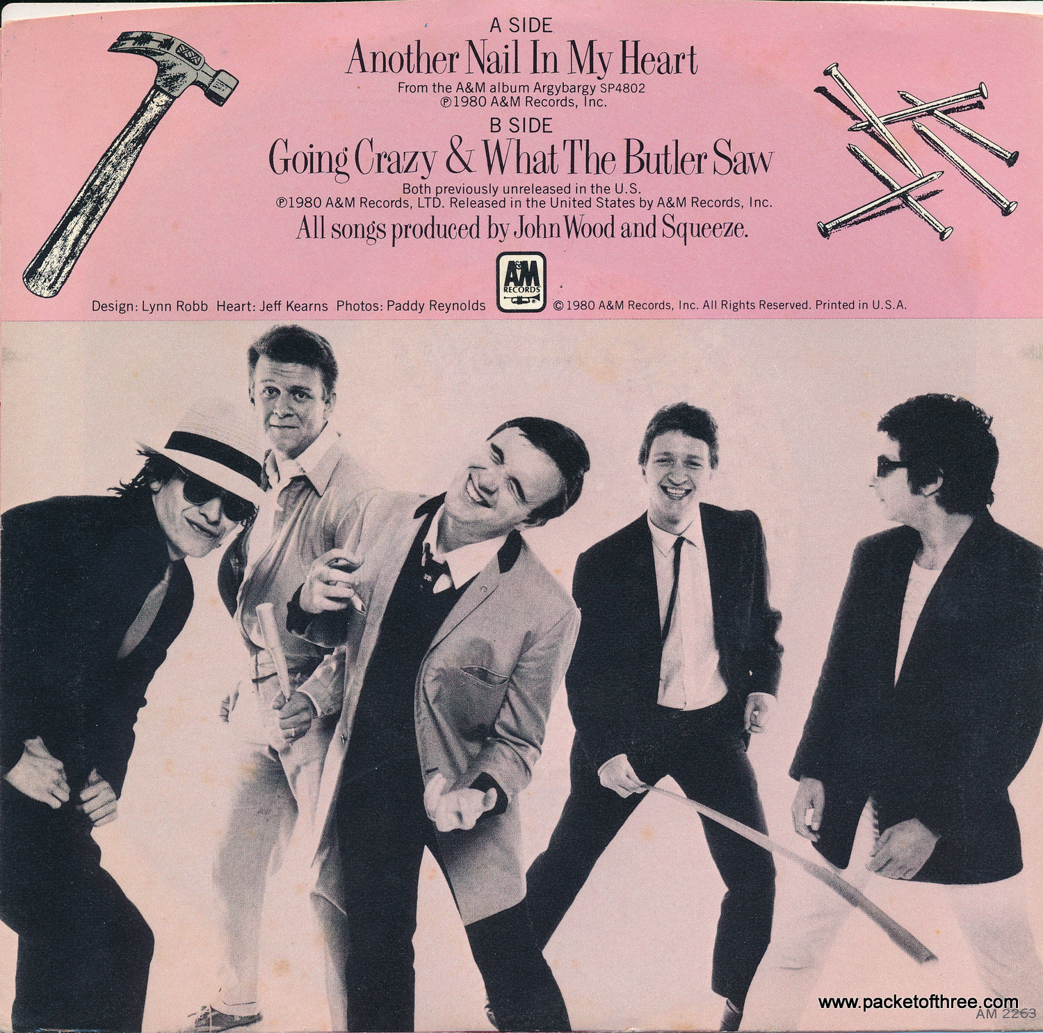 "Another Nail In My Heart - USA - 7"" - Picture Sleeve - Mono/Stereo Promotional Copy"